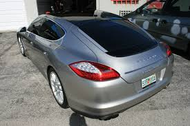 porsche wrapped porsche panamera panoramic 3m scotchprint vinyl roof wrap miami
