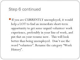 Volunteer Work To Put On A Resume Resume Writing Ppt Presentation
