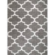 Gray And White Area Rug Rug And Decor Inc Supreme Shag Royal Trellis Gray Area Rug
