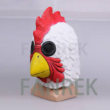 richard rooster mask hotline miami game cosplay latex