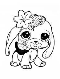 littlest pet shop penny ling coloring page for kids animal
