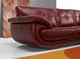 canapé en cuir italien canapé cuir de fabrication italienne modèle parma