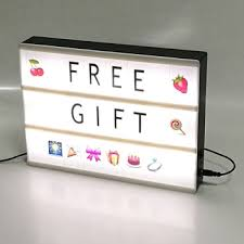 Letters For Home Decor 255pcs Usb Colour My Cinema Lightbox A4 Led Light Box With Letters