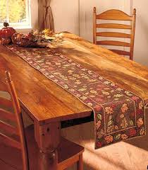 table setting runner and placemats harvest leaves table runner 13 w x 72 l country decor table setting