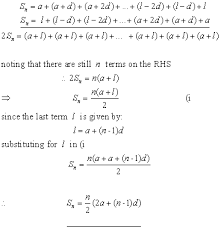 arithmetic progressions sequences u0026 series from a level maths tutor
