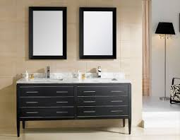 adornus camile 60 inch modern double sink bathroom vanity black finish