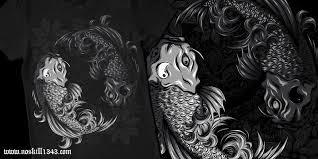 yin yang koi tshirt design style by noskill1343 on deviantart