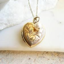 necklace vintage images Gold vintage heart locket necklace by lime tree design jpg