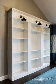 Shelves Built Into Wall Ikea Billy Bookcase Library Hack Remington Avenue
