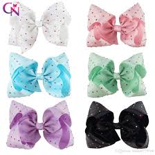 bow for hair 8 inch big diamond hair bow with clip colorful rhinestone hair bow