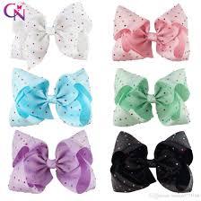 bow for hair 8 inch big diamond hair bow with clip colorful rhinestone hair bow