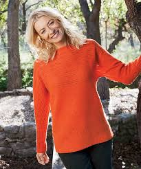 orange sweater womens s beacon pull wool sweater by woolrich the original