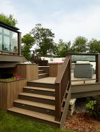timbertech legacy deck in mocha patio compliments deck and house