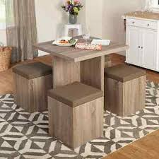 ottoman with 4 stools dining table 4 stools ottoman space saver storage kitchen furniture