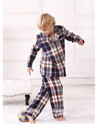 america style gorgeous woven children s pajamas top cotton boys
