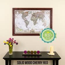 Maps update 700574 personalized world traveler map framed