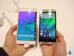 wallpaper for note edge screen galaxy note edge vs htc one m8 first look