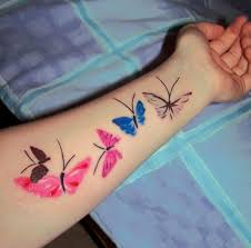 butterfly wrist designs for 2
