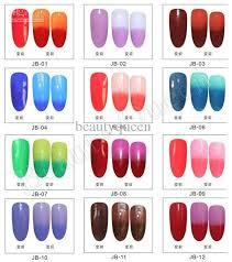 perfect match colors changing gel color chameleon nail gel polish soak f uv led gel and