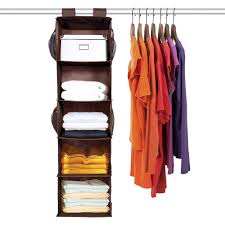 5 shelf hanging closet organizer maidmax brown hanging accessory
