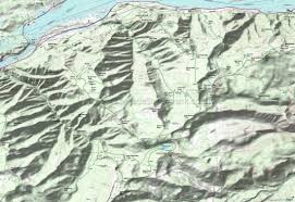 Oregon Topographic Map by Columbia River Gorge Wyeth Mount Defiance Eagle Creek Herman