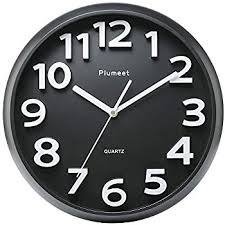 silent wall clocks amazon com plumeet large number wall clock 13 silent non ticking