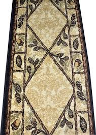 Pine Cone Area Rugs Dean Brasstown Bald Lodge Cabin Ranch Pine Cone Area Rug 2 3 X 7