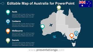 Map States Australia Editable Powerpoint Map Presentationgo Com