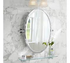 oval pivot bathroom mirror sussex pivot mirror pottery barn