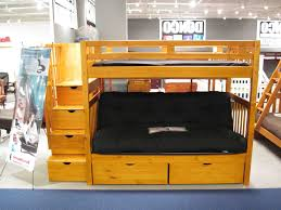 twin over futon bunk bed wood spillo caves