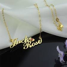 custom gold name necklace row name necklace