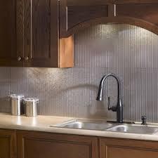 kitchen backsplash panels shop for fasade rib galvanized steel 18x24 backsplash panel free