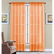 Sheer Curtains Orange Wpm 2 Beautiful Sheer Window Elegance Curtains