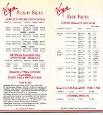 Virgin Atlantic Route Map Airline Memorabilia Virgin Atlantic 1988 Miami