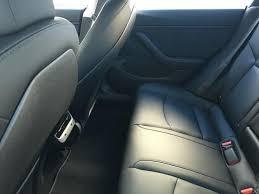 rare interior pics of tesla model 3 show tight backseat legroom