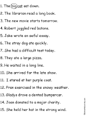adjectives and nouns worksheet circle the adjectives printout enchantedlearning