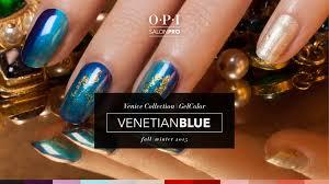 opi gelcolor tutorial venice collection venetian blue youtube