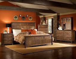 Pine Bed Set Rustic Pine Bedroom Furniture Light Brown Bed Linen Combined Log