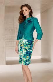 condici 11206 blue aurora print dress u0026 emerald jacket 11206