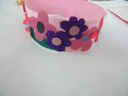 spring princess fairy flowers crown craft girls kids crafts
