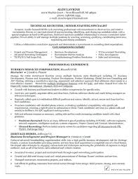 recruiter sample resume sample cover letter for recruiters senior