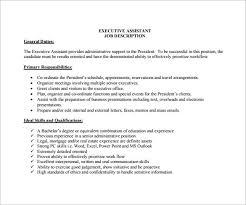 Administrative Assistant Job Duties For Resume Executive Assistant Job Description Previousnext Previous Image