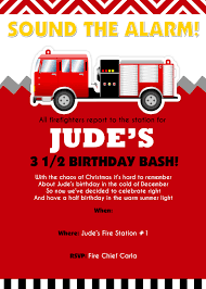 Halloween Party Poem Invite Small Friendly Firefighter Birthday Party