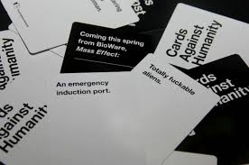 cards against humanity black friday amazon mass effect themed cards against humanity expansion now available