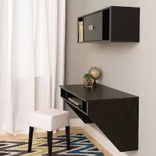 amazon com wall mounted designer floating desk in washed ebony