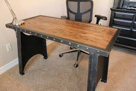 Origami Computer Desk by Vintage Industrial Office Desk Steampunk Table Riveted