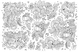 thanksgiving day coloring sheets thanksgiving doodle 3 by olga kostenko thanksgiving coloring