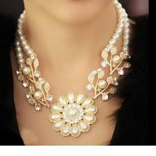 choker necklace with beads images Pearl necklacegold beads choker necklaces statement jewelry 2016 jpg