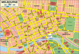 Melbourne Square Mall Map Map Of Melbourne City Map Melbourne Australia