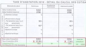taxe d habitation chambre chez l habitant calcul de la taxe d habitation